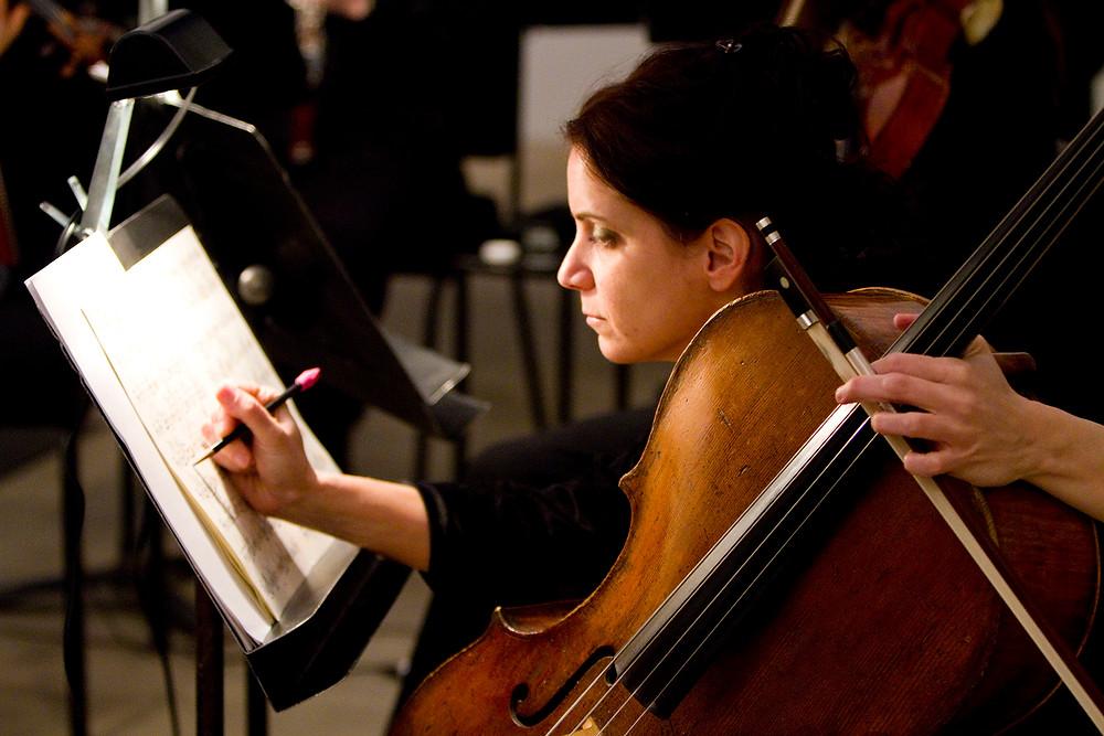 Cellist Melissa Brooks