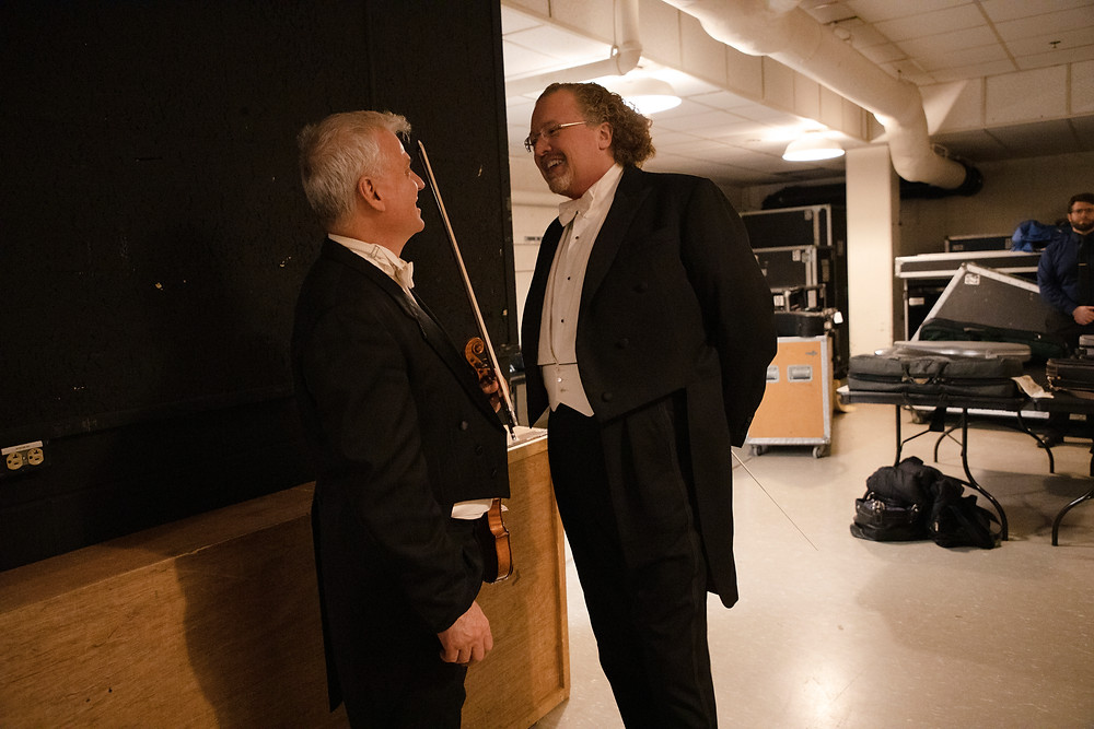 David Halen and Stephane Deneve backstage concert