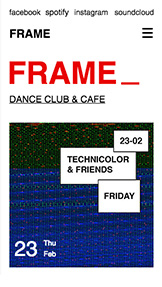 Events website templates – Dance Club