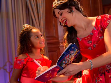 Fotos com a Princesa Elena, no Magic Kingdom