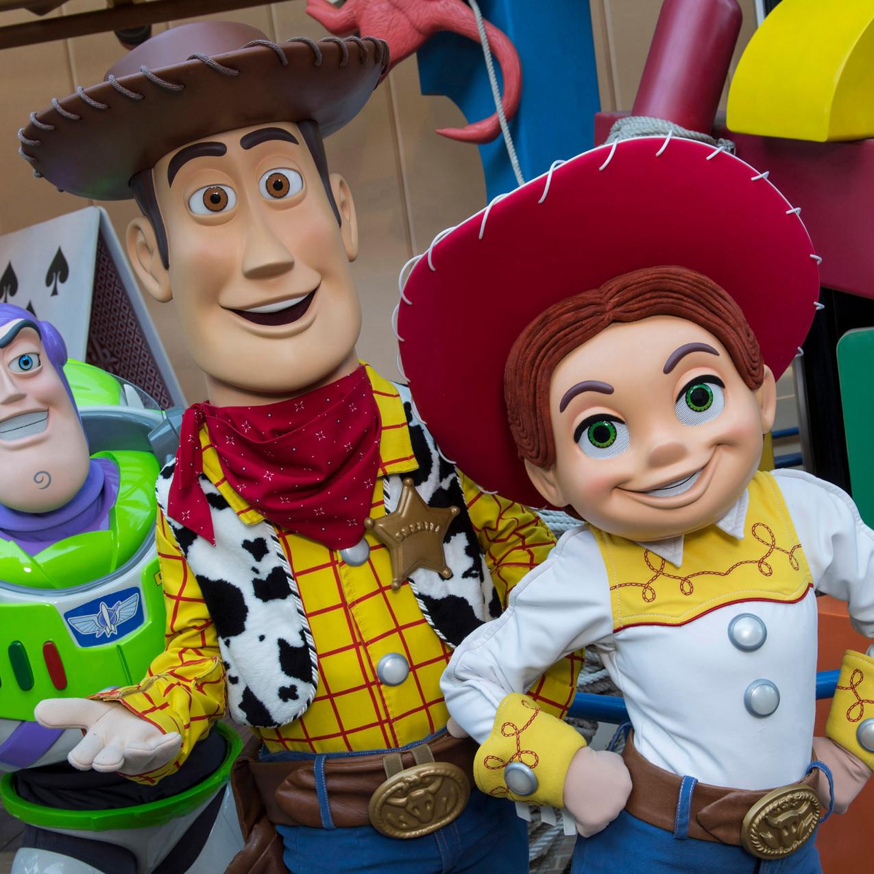 Woody, Buzz e Jessie