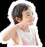 子供が歯磨きをしている