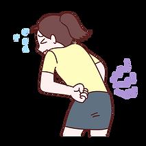 腰を痛がる女性イラスト