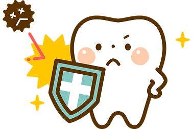 菌から守る歯イラスト