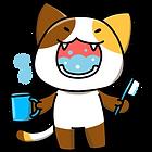 うがいをする猫イラスト
