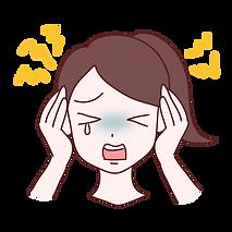 頭を痛がる女性イラスト
