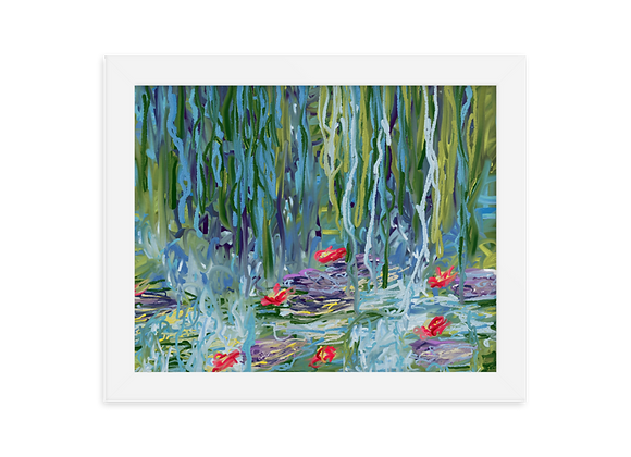 """Water Lily"" 00.2 Framed Poster"
