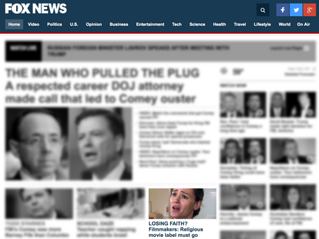 Front Page Feature on Fox News!