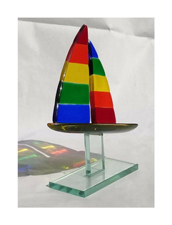 Fused Glass Sailing Trophy