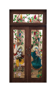 Radha and Krishna Infused With Painting and Firing Work.