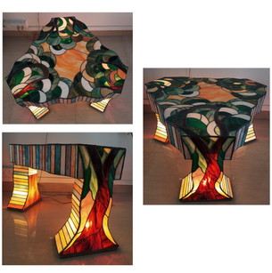 Stained Glass Tea Table