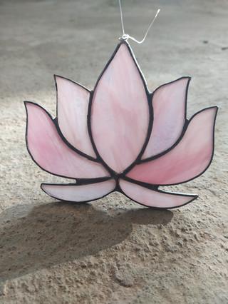 Pink Lotus Suncatcher