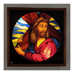 Stations of the Cross, Circular stained glass window, Bangalore
