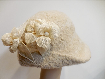 Millinery Hat Styles with straw ribbons