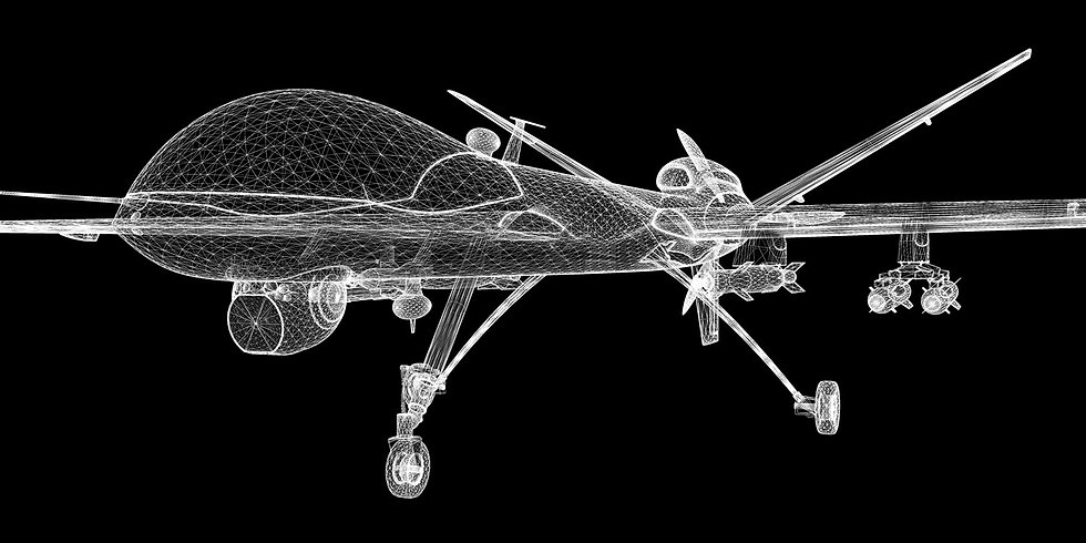 wireframe of drone