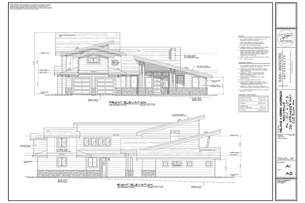 Custom Build home by Anderson Homes architecture drawings