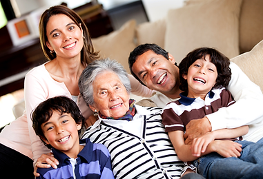 multi generational family representing the senior services at SASH Realty