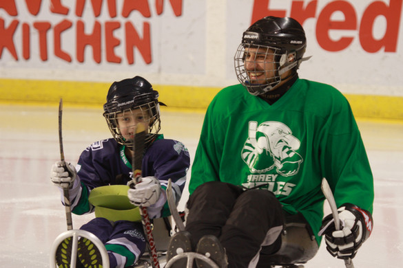 2015 Nov Sled Hockey at Kent Showare Cen