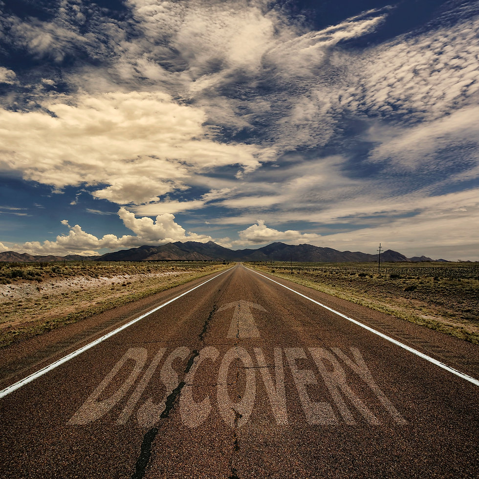 Road with the words Discovery on it reprsenting the benefits of business coaching