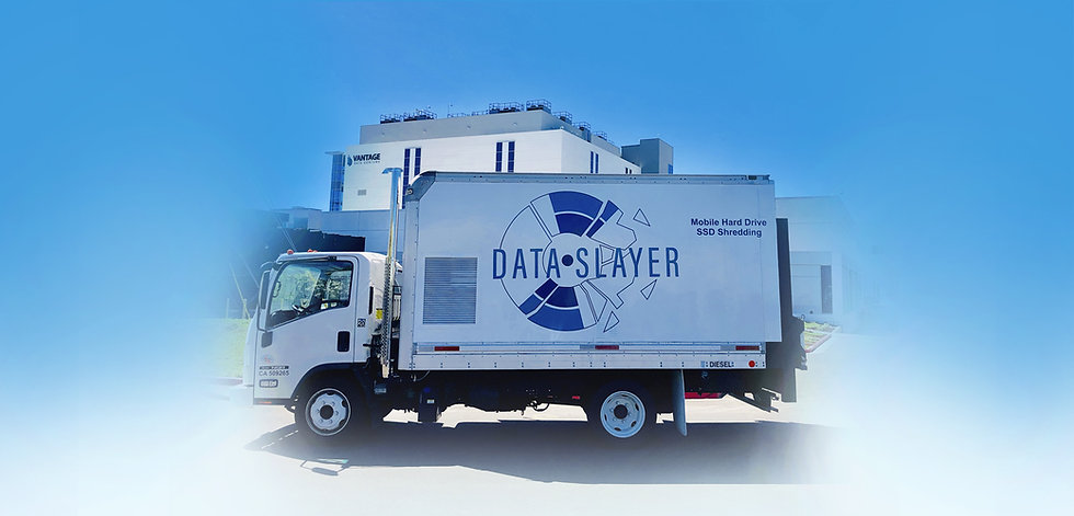 Data Slayer hard drive shredding truck