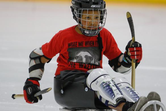 2016 Sled Hockey practice Renton SnoKing