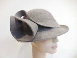 Hand scuplted wool gray