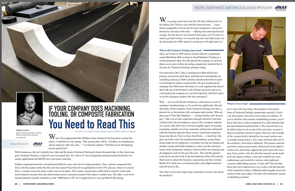 If Your Company Does Machining, Tooling, or Composite Fabrication You Need to Read This