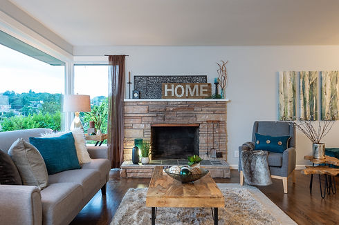 staged home by SASH Realty, photo of the living room