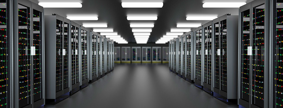 Room full of servers for ITAD services in the bay area, adobe stock image