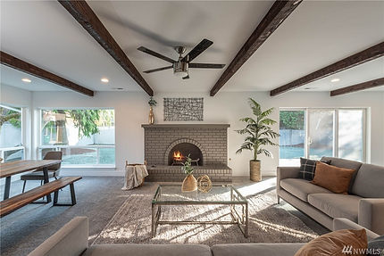 SASH Realty fireplace in staged home