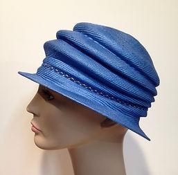 Straw hats blue