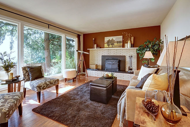 SASH Realty home Listing, living room beautifully staged