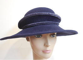 Custom Millinery Blocked Wool Hat purple