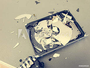 Destroyed hardware from data sanitization services