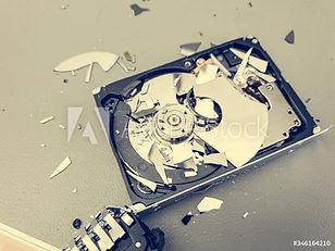 Damaged hard drive for Certified destruction Services