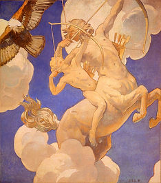 800px-Chiron_and_Achilles_c1922-1925_Joh