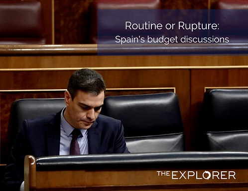 Routine or Rupture: Spain's budget discussions