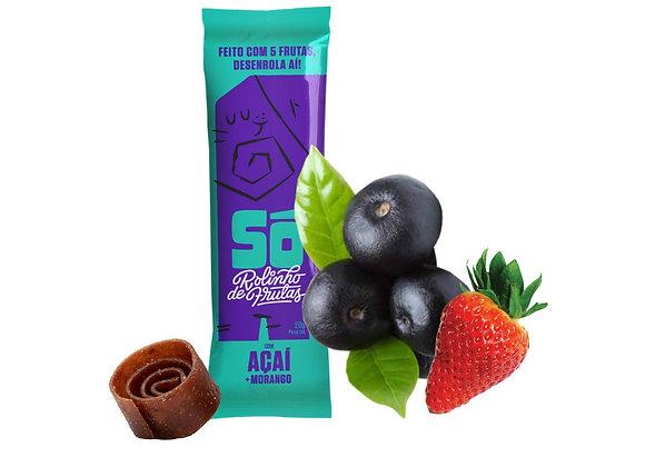 Só. Rolinho de Frutas com Açaí e Morango (20g)