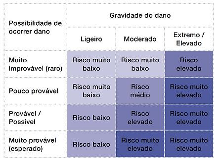 matriz de risco, revista gestão de risco, gravidade, risco