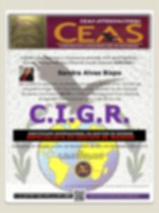 CEAS, CIGR, Certificado, Brasiliano, Gestão de Riscos, Gestión de Riesgos, Sandra Alves