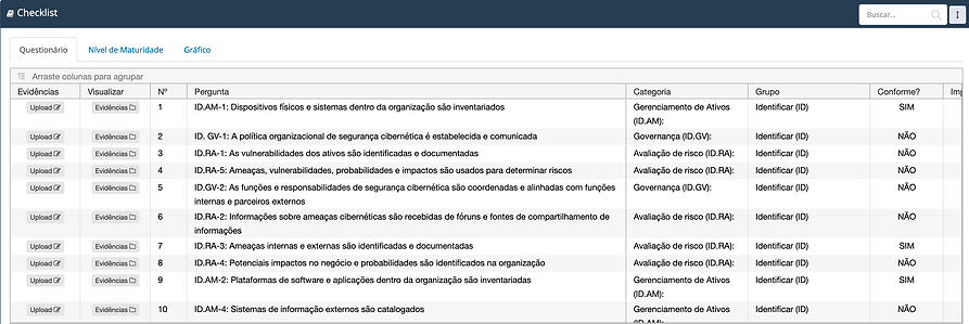 Checklist Software INTERISK \ Brasiliano