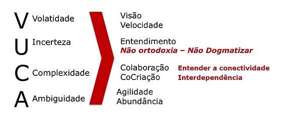 Mundo VUCA – Reações dos Líderes .  Fonte: Brasiliano, Antonio Celso Ribeiro.