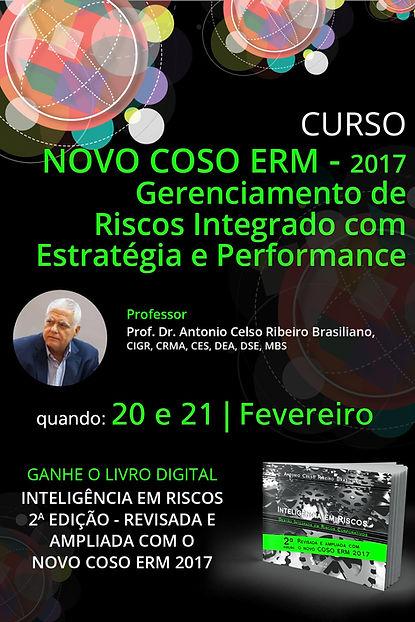 Curso NOVO COSO ERM 2017 – Gerenciamento de Riscos Integrado com Estratégia e Performance | SÃO PAULO - Brasiliano Interisk