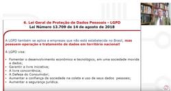 Webinar Lei de Proteção de Dados