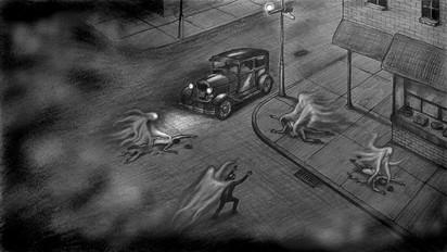 The Night Wire (street scene)