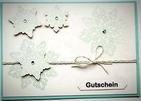 """Gutschein """"Schneeflocke"""""""