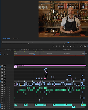 a video editing screen