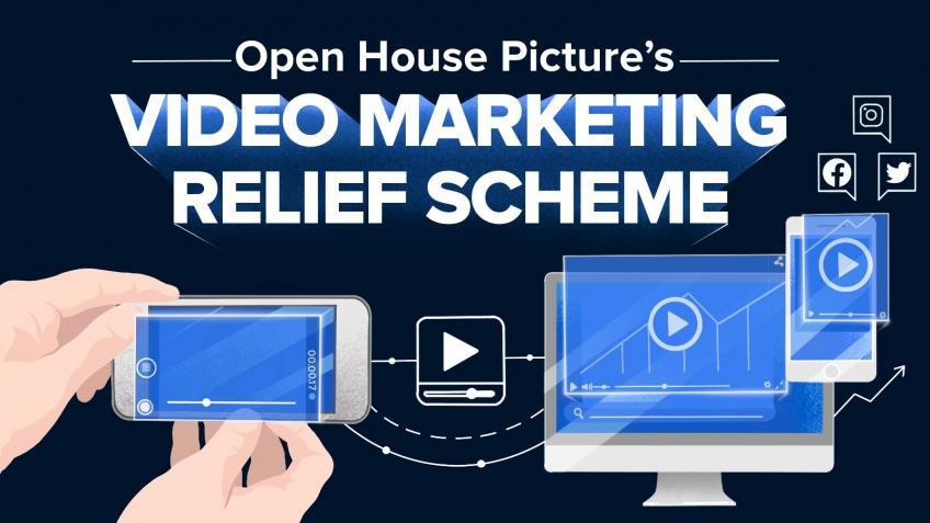 Video marketing relief scheme graphic