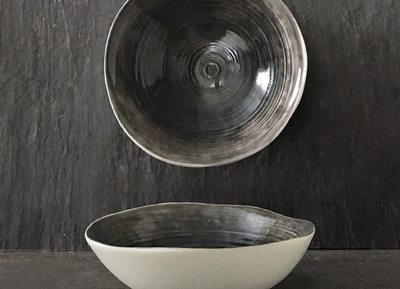 Black Wash Porcelain Bowl