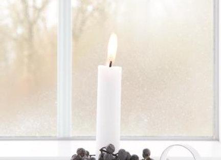 White Handled Candle Holder